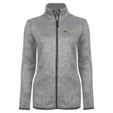Grey Heather Ladies Fleece Jacket-Point University