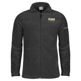 Columbia Full Zip Charcoal Fleece Jacket-Point University Vertical