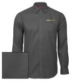 Red House Dark Charcoal Diamond Dobby Long Sleeve Shirt-Point University