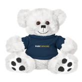 Plush Big Paw 8 1/2 inch White Bear w/Navy Shirt-Point University