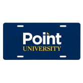 License Plate-Point University Vertical