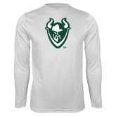 Syntrel Performance White Longsleeve Shirt-Viking Head
