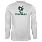 Performance White Longsleeve Shirt-Basketball