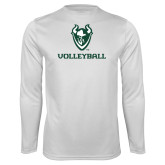Syntrel Performance White Longsleeve Shirt-Volleyball