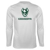 Performance White Longsleeve Shirt-Grandpa