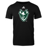 Adidas Black Logo T Shirt-Viking Head
