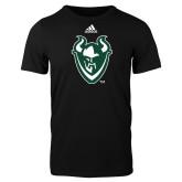 Adidas Black Logo T Shirt-Viking Head