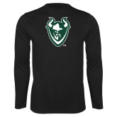 Syntrel Performance Black Longsleeve Shirt-Viking Head
