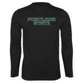 Syntrel Performance Black Longsleeve Shirt-Portland State