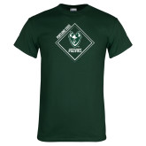 Dark Green T Shirt-Portland State Sign Design