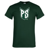 Dark Green T Shirt-Official Logo Distressed