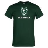 Dark Green T Shirt-Softball