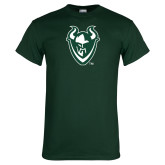 Dark Green T Shirt-Viking Head