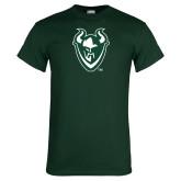 Dark Green T Shirt-Viking Head