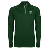 Under Armour Dark Green Tech 1/4 Zip Performance Shirt-Viking Head