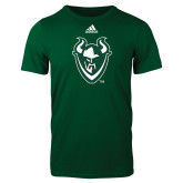 Adidas Dark Green Logo T Shirt-Viking Head