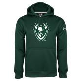 Under Armour Dark Green Performance Sweats Team Hoodie-Viking Head