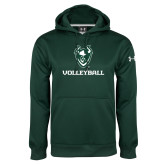 Under Armour Dark Green Performance Sweats Team Hoodie-Volleyball