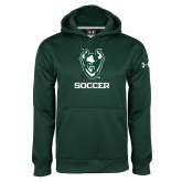 Under Armour Dark Green Performance Sweats Team Hoodie-Soccer