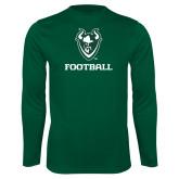 Performance Dark Green Longsleeve Shirt-Football