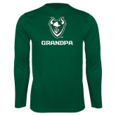 Syntrel Performance Dark Green Longsleeve Shirt-Grandpa