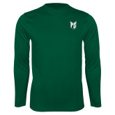 Syntrel Performance Dark Green Longsleeve Shirt-Official Logo