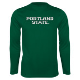Syntrel Performance Dark Green Longsleeve Shirt-Portland State