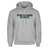 Grey Fleece Hoodie-Portland State