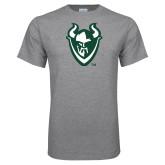 Grey T Shirt-Viking Head