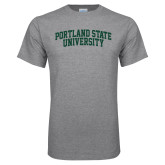 Grey T Shirt-Arched Portland State