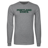 Grey Long Sleeve T Shirt-Portland State