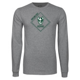 Grey Long Sleeve T Shirt-Portland State Sign Design