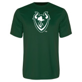 Performance Dark Green Tee-Viking Head