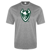Performance Grey Heather Contender Tee-Viking Head