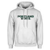 White Fleece Hoodie-Portland State