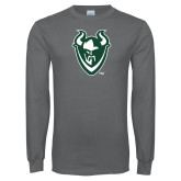 Charcoal Long Sleeve T Shirt-Viking Head