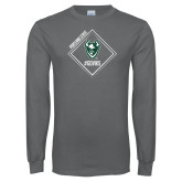 Charcoal Long Sleeve T Shirt-Portland State Sign Design