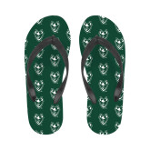 Ladies Full Color Flip Flops-Viking Head