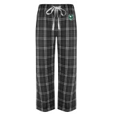 Black/Grey Flannel Pajama Pant-Viking Head