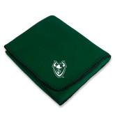 Dark Green Arctic Fleece Blanket-Viking Head