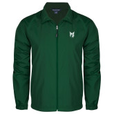 Full Zip Dark Green Wind Jacket-Official Logo