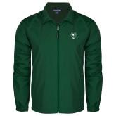 Full Zip Dark Green Wind Jacket-Viking Head