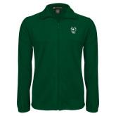 Fleece Full Zip Dark Green Jacket-Viking Head