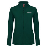 Ladies Fleece Full Zip Dark Green Jacket-Portland State