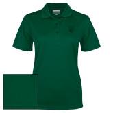 Ladies Dark Green Dry Mesh Polo-Official Logo Tone