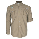 Columbia Bahama II Khaki Long Sleeve Shirt-Official Logo
