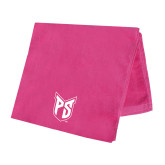 Pink Beach Towel-Official Logo Tone