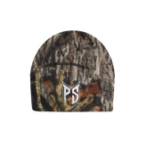 Mossy Oak Camo Fleece Beanie-Official Logo Tone