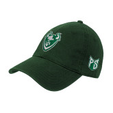 Dark Green Twill Unstructured Low Profile Hat-Viking Head