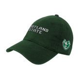 Dark Green Twill Unstructured Low Profile Hat-Portland State